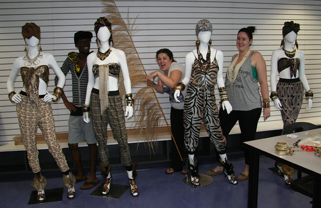 Tribal Nights Window Display Install Humber College Fashio Flickr