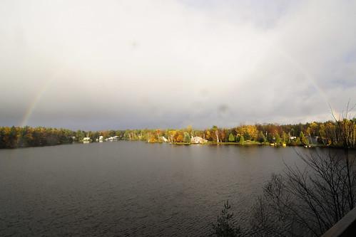autumn trees sunset lake canada fall water clouds landscape rainbow québec stcolomban mariemarthegagnon laclheureux heureuxlake