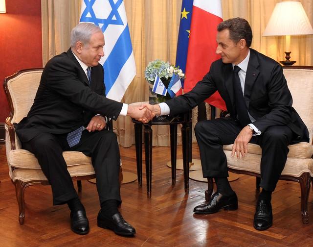 PM Netanyahu meets with French President Nicolas Sarkozy, New York