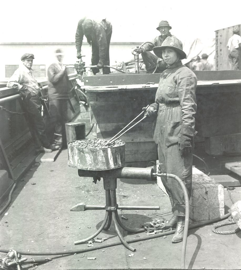 Rivet Heater Esther Bielmeier, 1918 | Puget Sound Navy ...