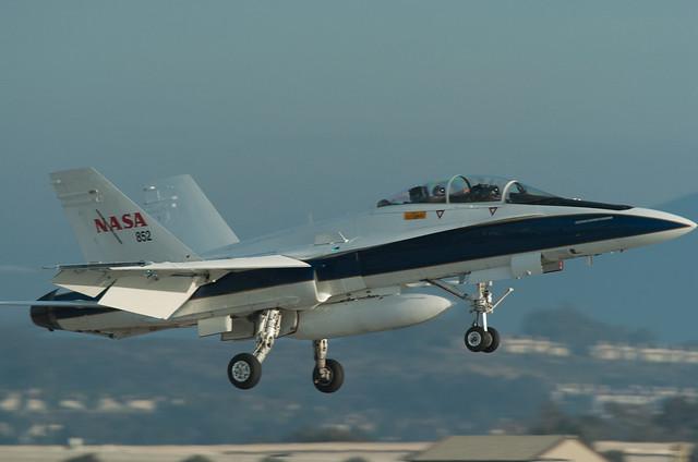 NASA F-18 landing at MCAS Miramar
