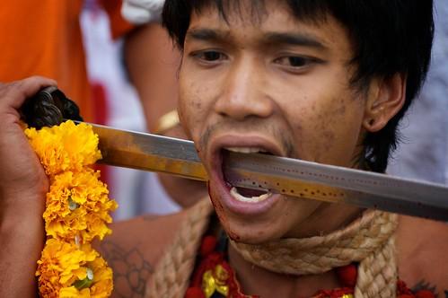 Face Piercing Phuket Vegetarian Festival | by Joseph A Ferris III