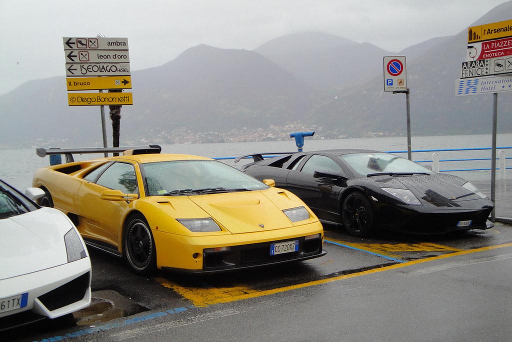 Old Vs New School Lamborghini Diablo Gt Lamborghini Mur Flickr