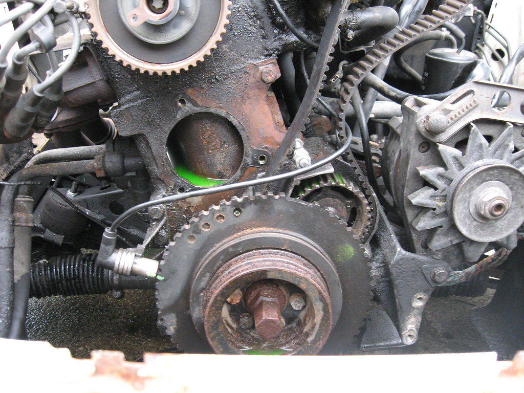 Started Bmw E30 Timing Belt Water Pump Replacement Flickr