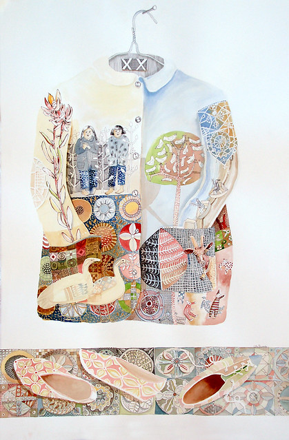 CoatAndShoes water colour and ink on paper (65x110cm)