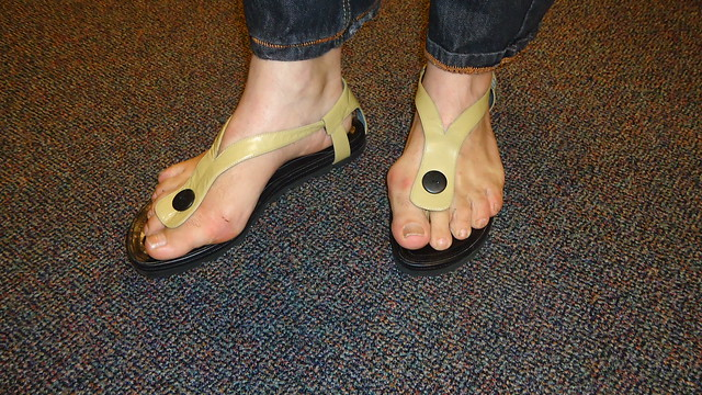 yellow thong sandals