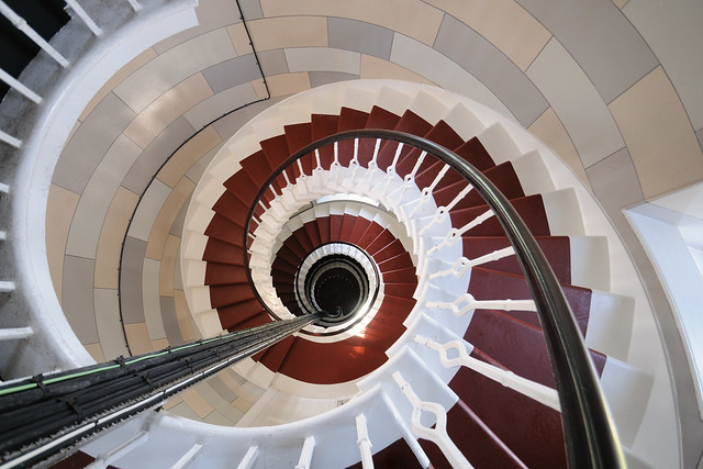 Another shot of the spiral staircase at the Isle of May