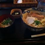 ソーキそば定食 Taken with picplz at 楚辺そば in Fukushima City, Japan.