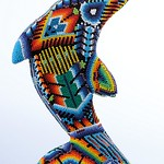 The Huichol Art with PRECIOSA seed beads (Dolphin)