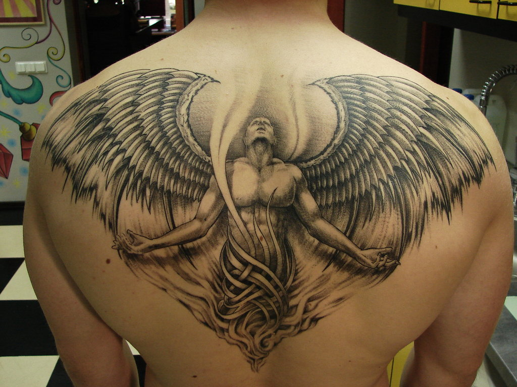 6f248a0b0 Back Angel Tattoo Design | Amazing angel back tattoo www.ita… | Flickr