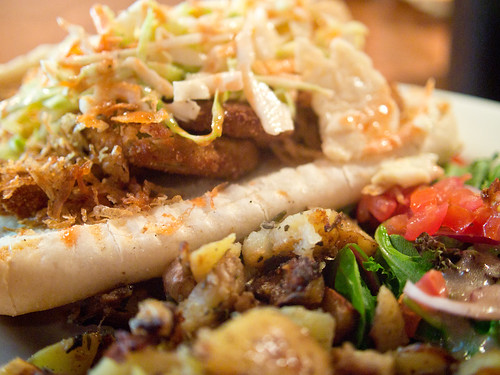 The Feve Brunch - fried green tomato po-boy