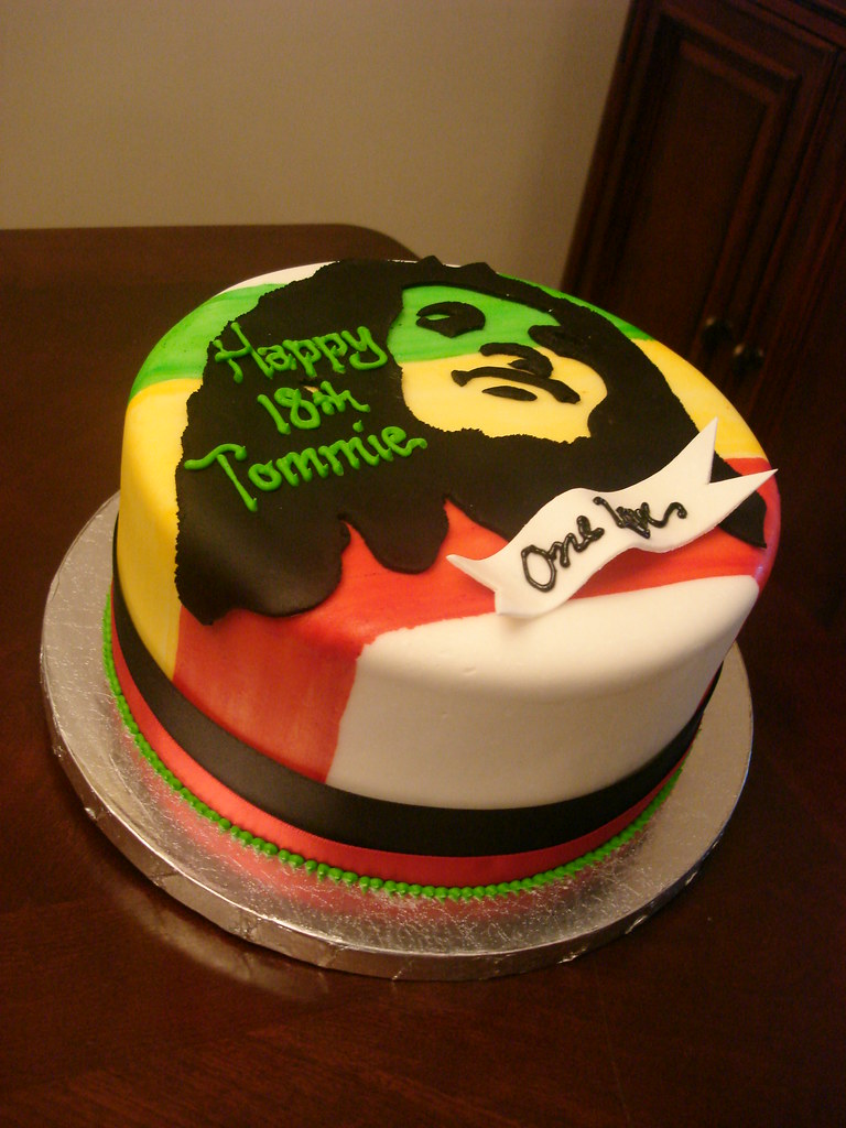 Wondrous Bob Marley Birthday Cake Bob Marley Cake With Hand Painted Flickr Personalised Birthday Cards Veneteletsinfo