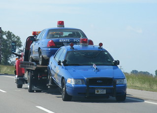 Towed Michigan State Police cars | by Sean_Marshall