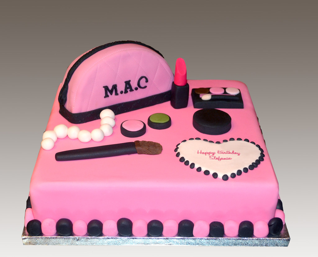 Cool Mac Cosmetics Cake Angeliki Kalouta Flickr Personalised Birthday Cards Sponlily Jamesorg
