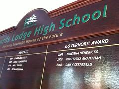 School Honors board