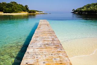 Ksamil beach dock   by azem