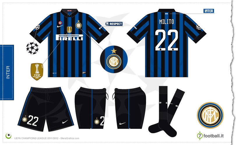 sports shoes 889a9 4d459 Inter Champions League home kit 2011/2012   Sergio Scala ...