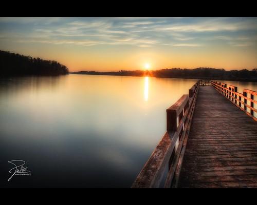 sunset lake canon pier unitedstates knoxville tennessee f16 24 hdr arthurst nd10 canoneos5dmarkii littleturkeycreek tse24mmf35lii leebigstopper canontse240mmf35lii