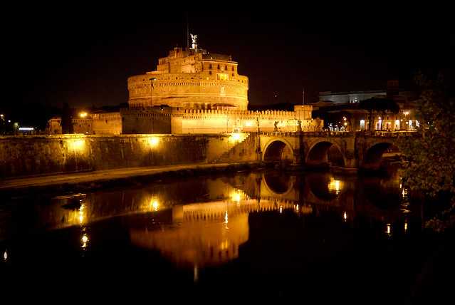 Sant' Angelo Fort by night