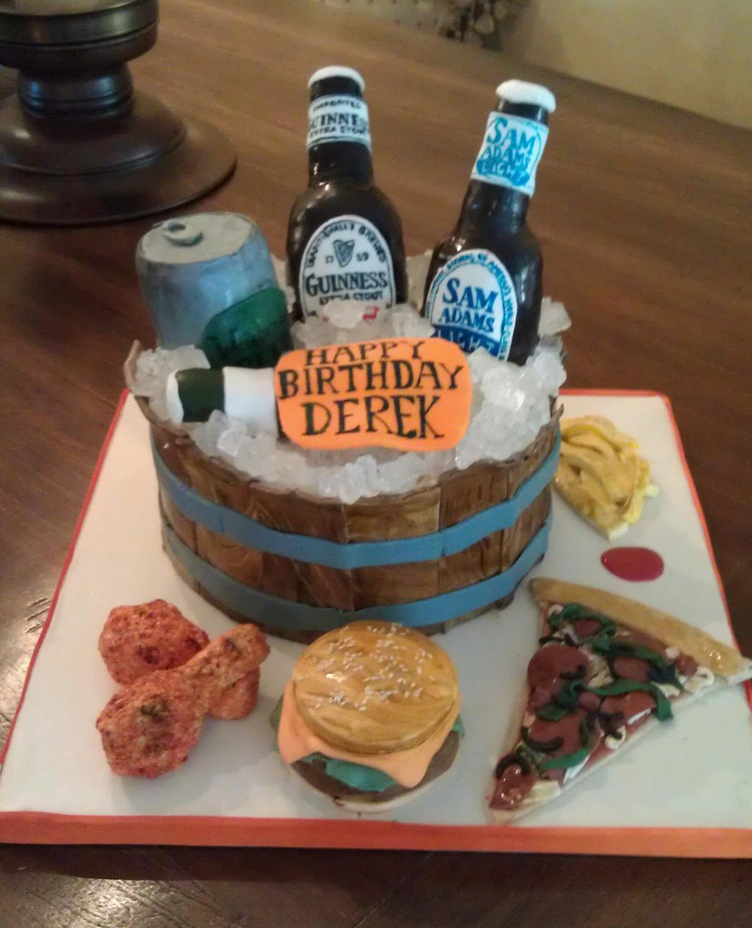 Awesome Beer Themed Birthday Cake 2 I Was Asked To Make A Surprise Flickr Personalised Birthday Cards Epsylily Jamesorg