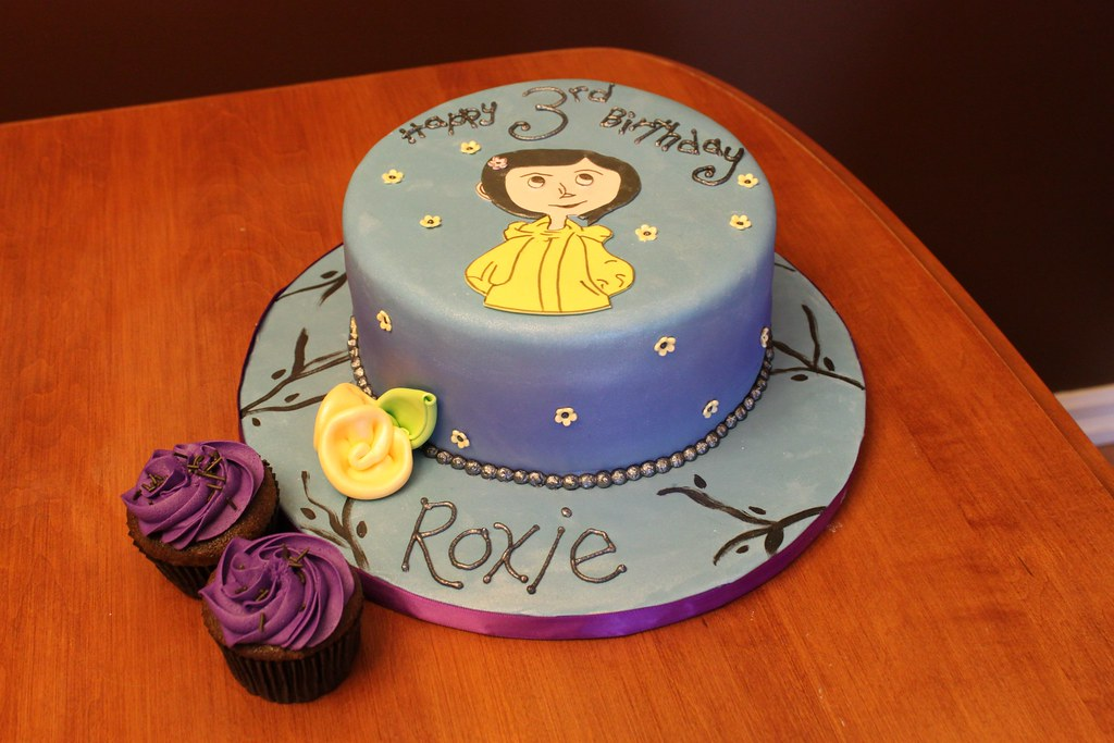 Incredible Roxies Coraline Cake Jeannettes Custom Cakes Flickr Funny Birthday Cards Online Inifodamsfinfo