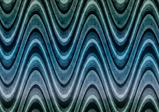 BackgroundsEtc's Retro Waves Patterns in Blue Green Lilac | by webtreats