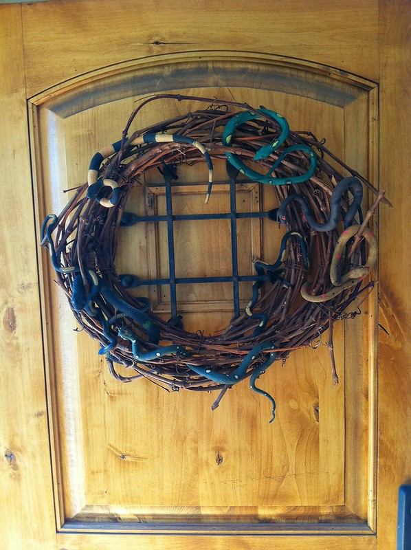 Our Halloween Snake Wreath