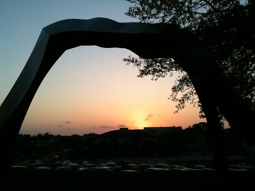 sunset sculpture texas huntsville samhoustonstateuniversity shsu rainbowwalker foursquare:venue=4bdb4aba2a3a0f473f50aeb6 gowalla:spot=1040862