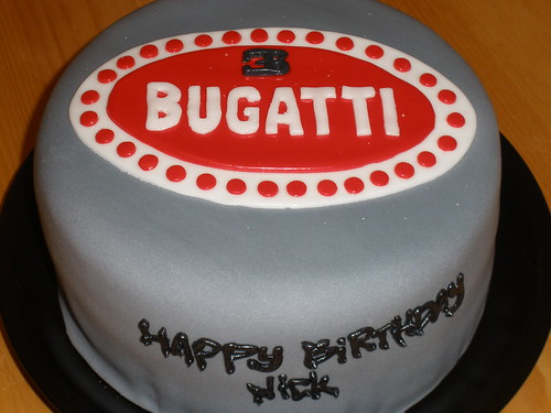 Bugatti logo birthday cake | by anna_crawford