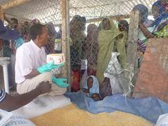 Camp Ali Addeh, distribution de nourriture