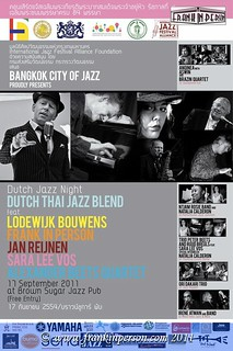 BANGKOK, CITY OF JAZZ 2011 | by Frank In Person