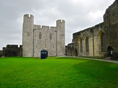 Tardis at caerphilly castle | by leff