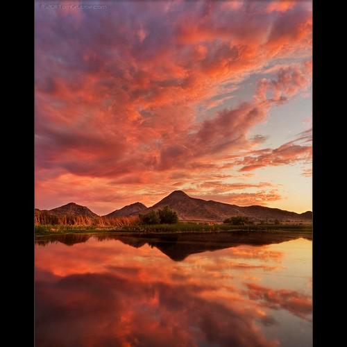 sunset lake storm clouds pond lagoon hills bog sanjacinto underlight sanjacintowildlifearea