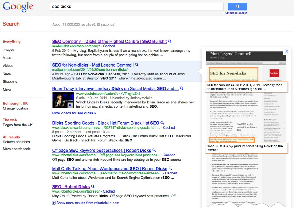 SEO in action