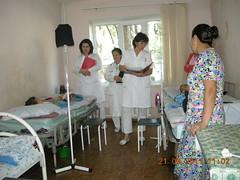 talk of doctors with patients with leikemia (uzbekistan)