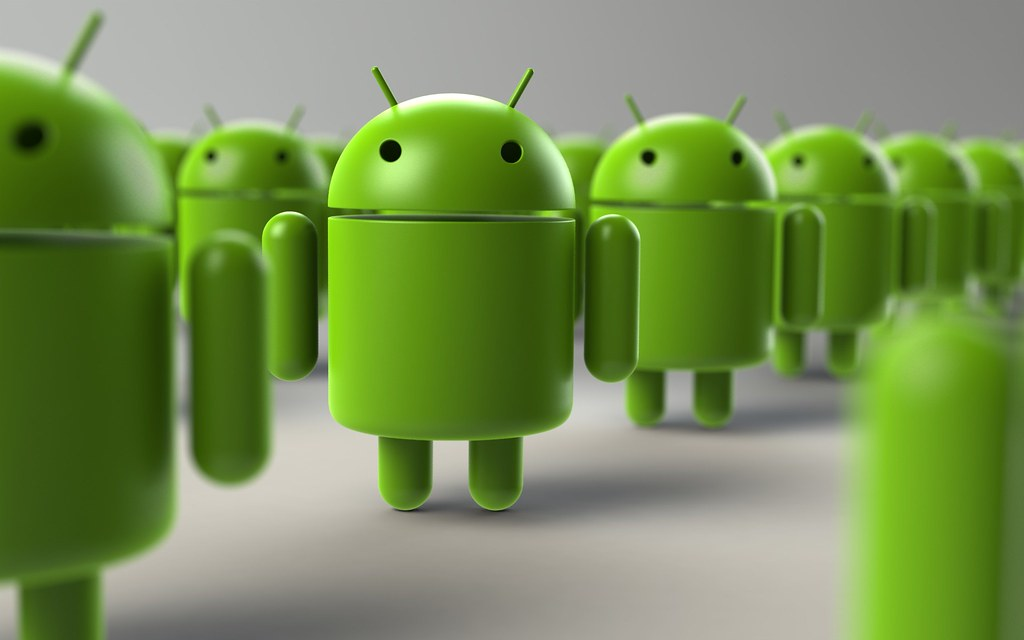 Google Android mascot: looking cute on purpose.