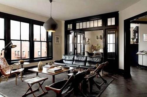Black + white design: Sexy midcentury decor in Nolita apartment