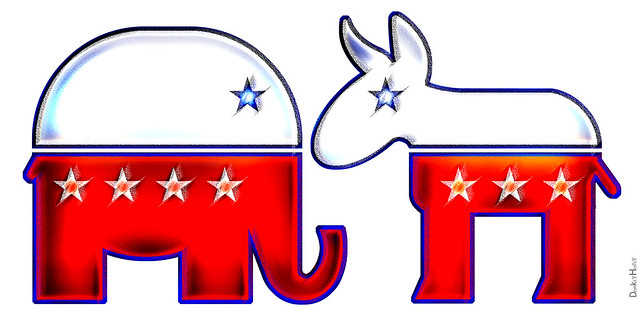 Republican Elephant & Democratic Donkey - Icons