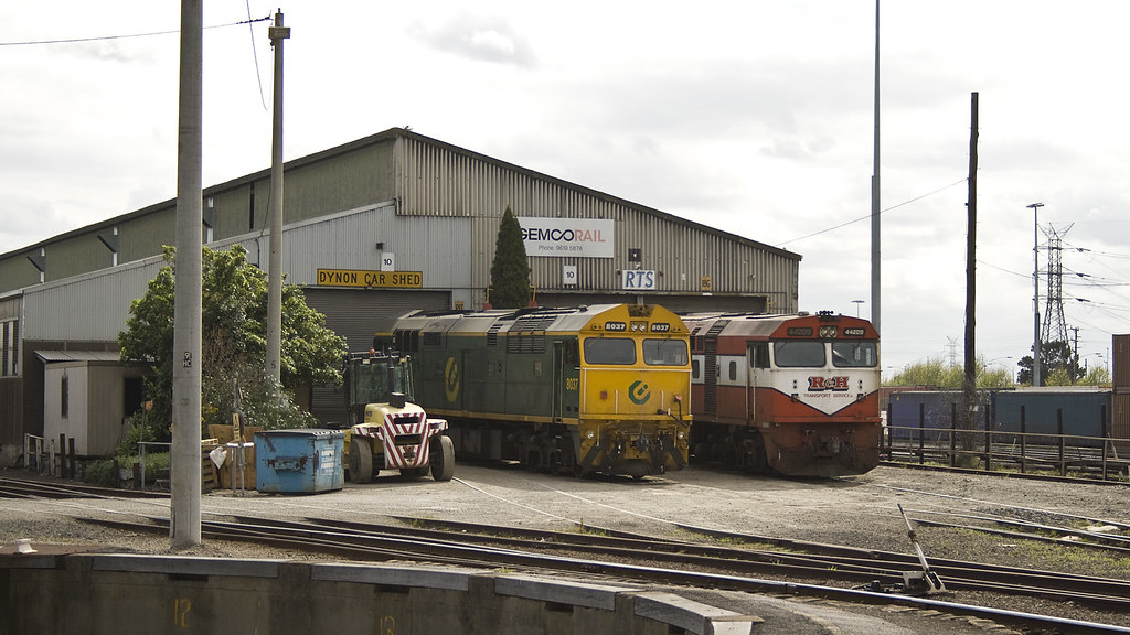 8037 and 42209 at Dynon by michaelgreenhill