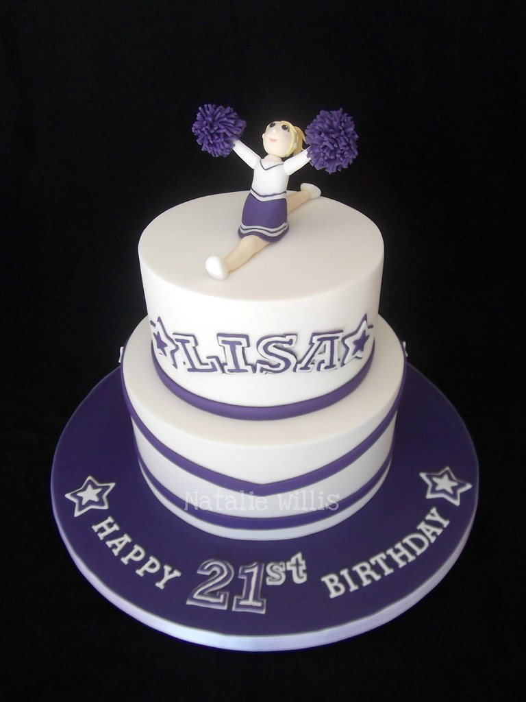 Enjoyable 21St Birthday Cheerleader Cake This Was Made For A Friend Flickr Personalised Birthday Cards Veneteletsinfo