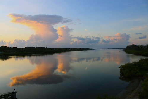 sky cloud sunrise fl waterway canont1i