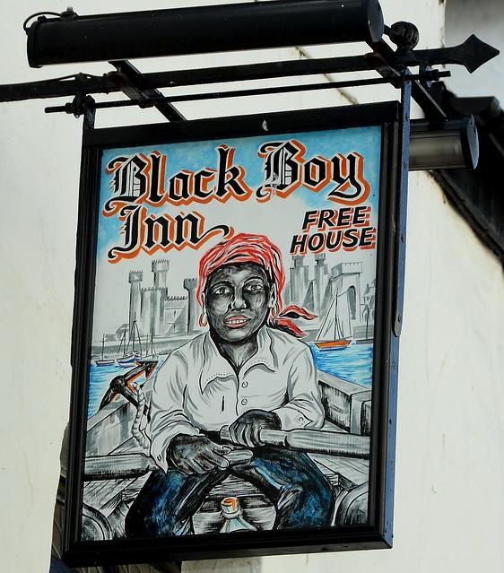 Black Boy Inn - Caernarfon ....... Only In Wales ...