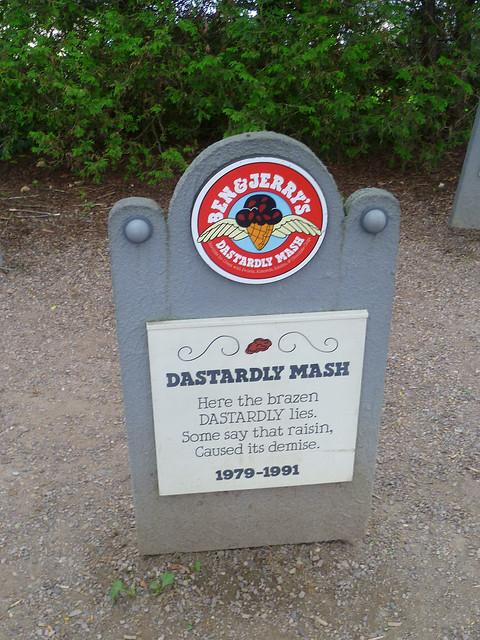 Ben & Jerry's Flavor Graveyard: Dastardly Mash