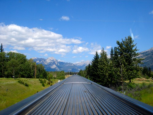 Alberta Sky, Mountains and the Tracks | by Jamie McCaffrey
