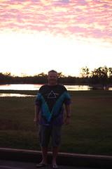 Sunset near Normanton (Australia)