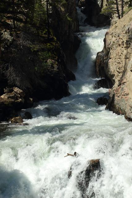Unnamed Waterfall - Glacier Trail - Fitzpatrick Wilderness near Dubois, Wyoming