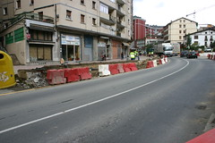 Obras para la supresión del paso a nivel de Izelaieta. Carretera N-634.