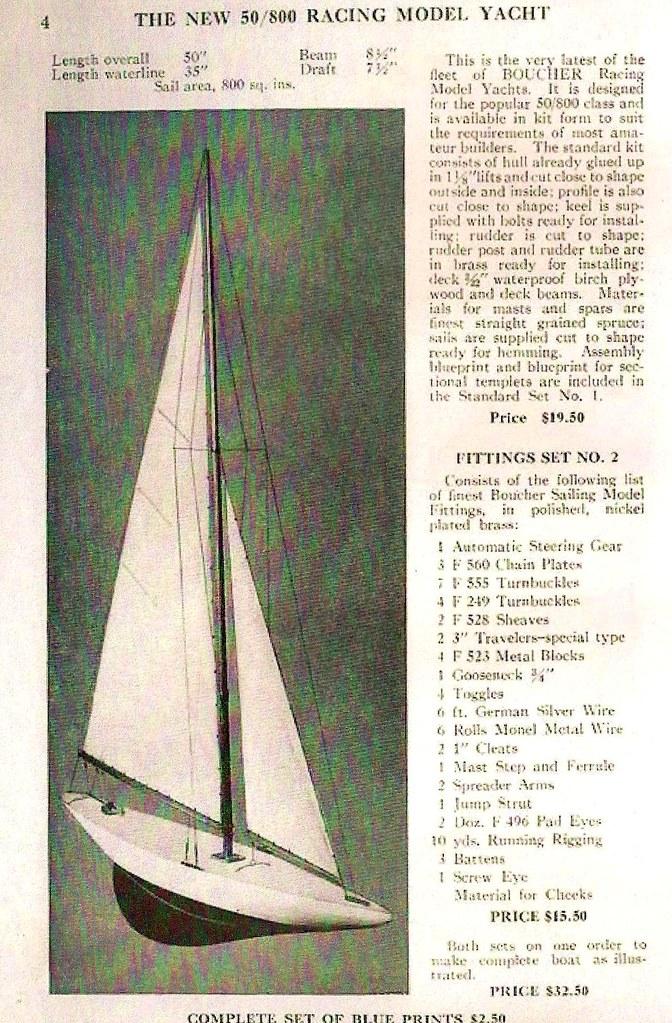 1939 Boucher Model Yacht Catalog - Marblehead 50-800   Flickr
