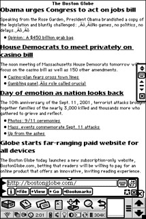 HTML5 vs Newton: The Boston Globe