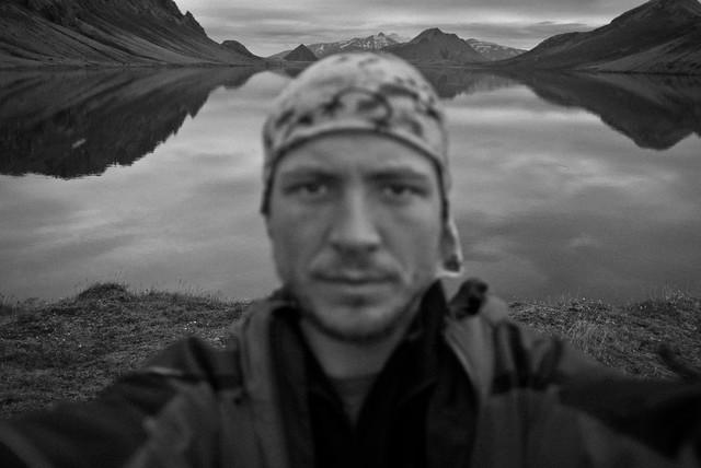 Italian man in Iceland
